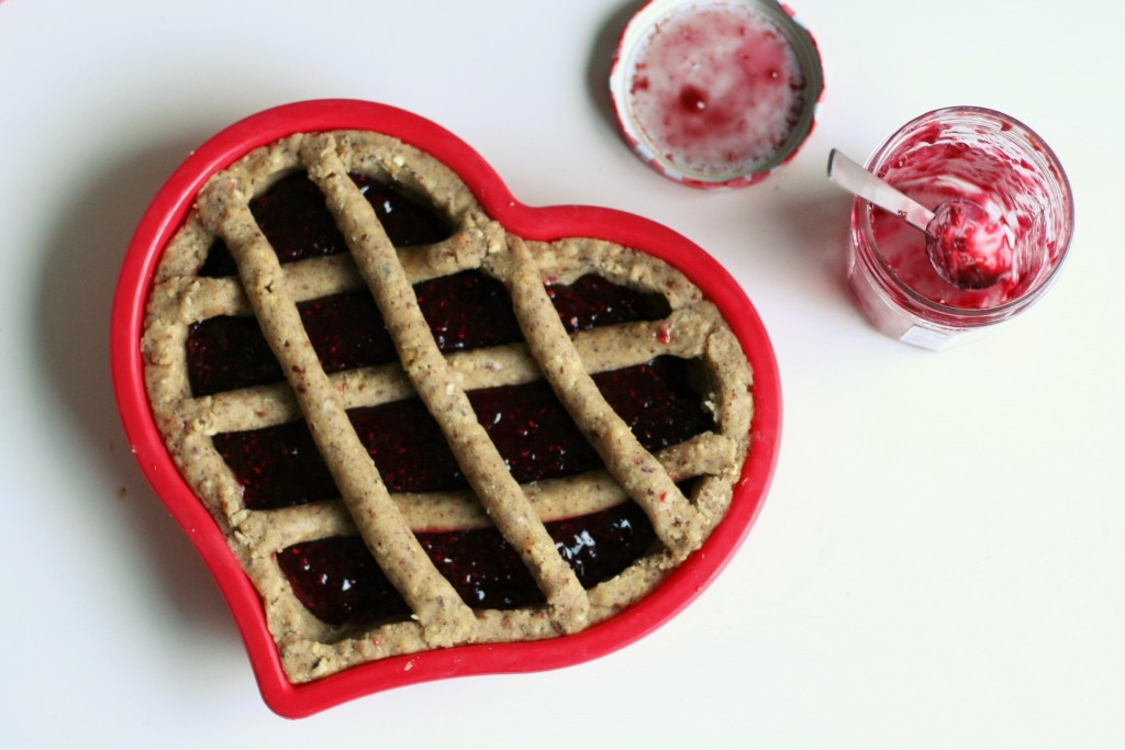 Bake a heart-shaped Linzer torte for Valentine's day