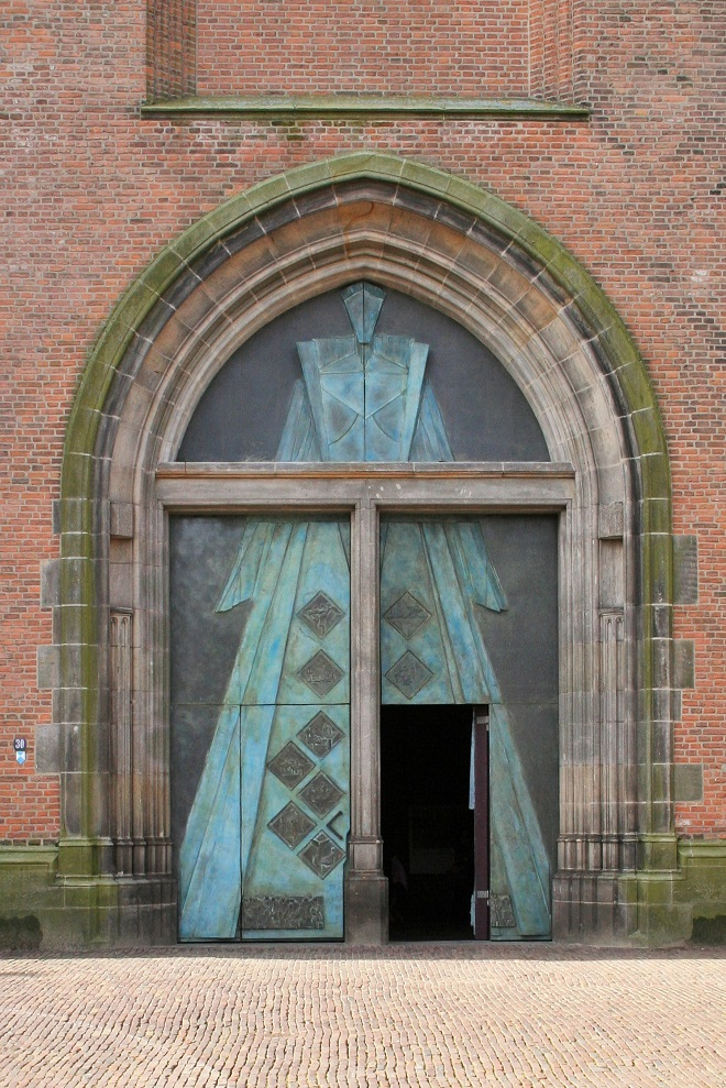 Bronze church doors