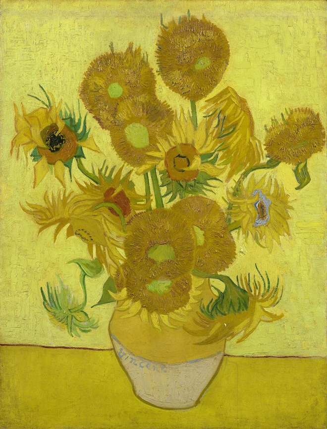 Sunflowers-Vincent-van-Gogh-1889