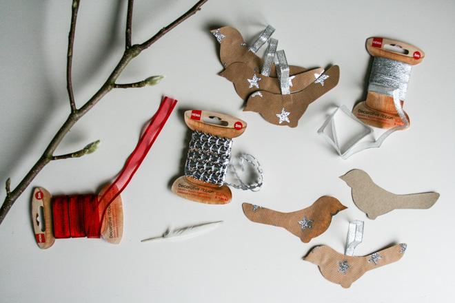 Christmas birds DIY - Cloverhome.nl