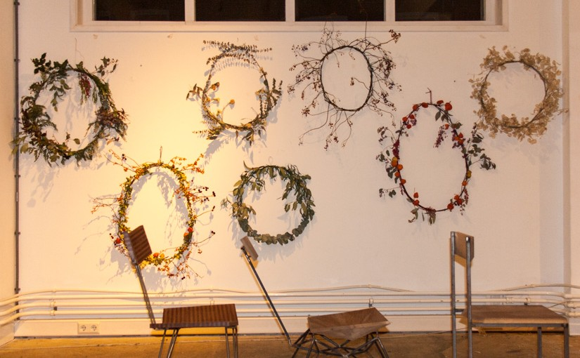 Wreaths made from dried flowers